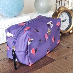 Kate Spade EUC purple cosmetic bag waterproof